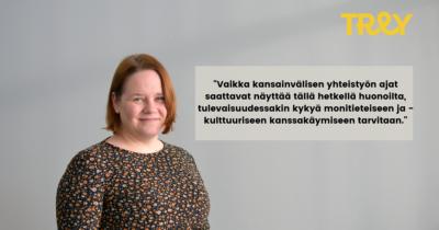 Kansainvälisten asiain ja vaikuttamisen asiantuntija Anne Mäki-Rahkola